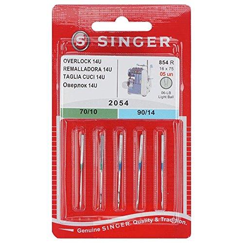 5 Original Singer Overlock 14U Nähmaschinen Nadeln 2054 Stärke 70/10 und 90/14