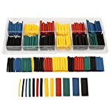 RISHIL WORLD 280pcs Assortment Ratio 2:1 Heat Shrink Tubing Tube Sleeving Wrap Kit with Box