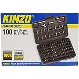 Kinzo 72043 - Juego de brocas (100 piezas)