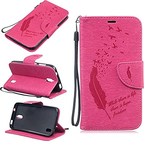 nancen Apple iPhone 5/5S (4.0 Inches) Protective Case, High Quality PU Leather Folio Style Wallet Flip Case Cover PU Leather Wallet Case Cover With Stand Function and Credit Card Slots & Bird Fountain. Solid Colours [Design]