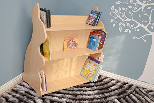 Ace Baby Furniture Rabbit Mobile Double-Sided Bookcase, Natural Maple