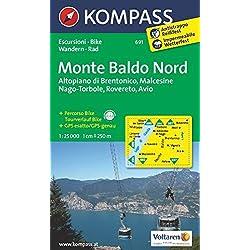 Carta escursionistica n. 691. Monte Baldo nord, Altopiano di Brentonico, Malcesine, Nago 1:25.000. Adatto a GPS. DVD-ROM. Digital map
