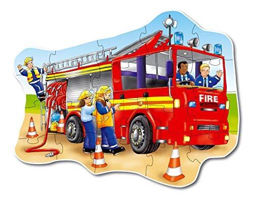 Imagen 1 de Orchard_Toys 258 Big fire engine - Puzle con dibujo de camión de bomberos (20 piezas, importado de Reino Unido)