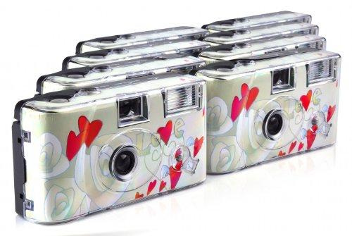 TopShot Flying Hearts Einwegkamera (27 Fotos, Blitz, 8-er Pack)