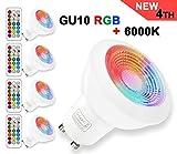 GU10 LED RGBW Lampe mit Fernbedienung