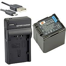 DSTE VW-VBG260 Li-ion Batería Traje y cargador micro USB para Panasonic AG-AC7 AG-AF100 AG-HMC40 AG-HMC80 AG-HMC150 HDC-HS250