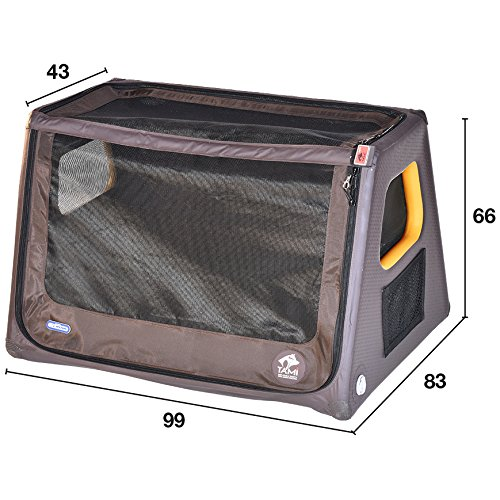SUPwave Tami - Hundetransportbox aufblasbar Tragebox Transportbox Hundebox Reisebox Autotransportbox Kofferraumbox Gitterbox Käfig Hund Box Dogbox Inflatable inkl. Dog-Vital Bio-Hundekeks (L)