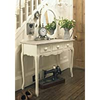 Melody Maison Cream Wooden Console Hallway Table Drawers - Country Ash Range