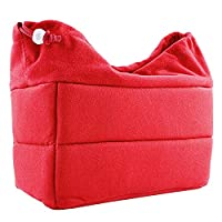 Shockproof Storage Bag Adjustable Insert Interior Slots Travel Carrying Case Protective Cover with Drawstring Design for Sony Canon Nikon Olympus Pentax DSLR SLR Cameras Red
