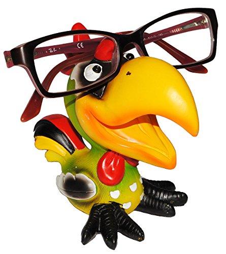 Brillenhalter - ' verschiedene Vögel ' - stabil aus Kunstharz - Größe universal - für Kinder &...