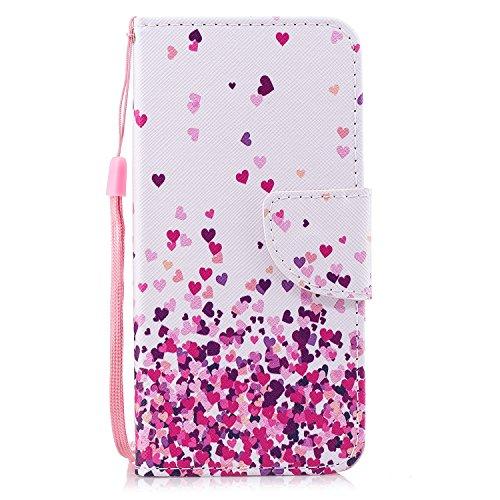 Q6 Hülle, LG Q6 Hülle, Klassikaline® LG Q6 (5,5 Zoll) Schutzhülle Tasche Handyhülle {Bunte Retro Muster Serie} - Petit amour - Petite-serie