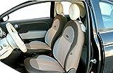 Sitzbezug-Set/ Rückenlehnenschutz für FIAT 500, Made in Italy, selbstanpassend