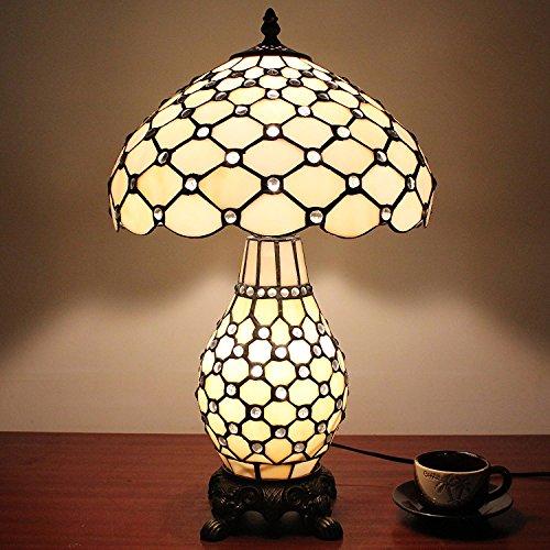 Antik Korn (12-Zoll-weißes Korn-Pastoral Retro antike Amerikanischer-Stil Tischlampe Nachttischlampe Doppel Licht)