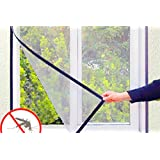 VC Mosquito Insect Fly Bug Net Mesh for Window with Loop and Hook Tape, 3ftx4ft (MNET34, Ivory)