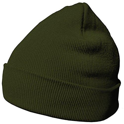 DonDon Wintermütze Mütze warm klassisches Design modern und weich olive
