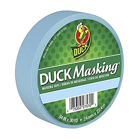 Duck Masking 240881 Light Blue Color Masking Tape, .94-Inch by 30 Yards by Duck (30 Yd Masking Tape)