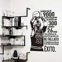 IDEAVINILO ÚNICO VENDEDOR ORIGINAL- Vinilo decorativo de Michael JordanHe fallado más de 9000 tiros en