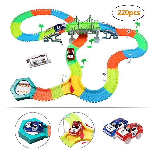 infinitoo Tracks Magique Circuit de Voiture Flexible Tracks Car | Une Piste de Course de...