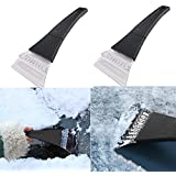Unknown 2 Pack Snow Ice Scraper Removal for Car with Foam Handle Snow Removal for Car Windshield and Window