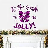xingbuxin Tatuajes de Pared Decoración navideña Moderna Navidad Jolly Art Mural desprendible Invierno Año Nuevo Etiqueta de la Pared Decoración 5 45x42cm