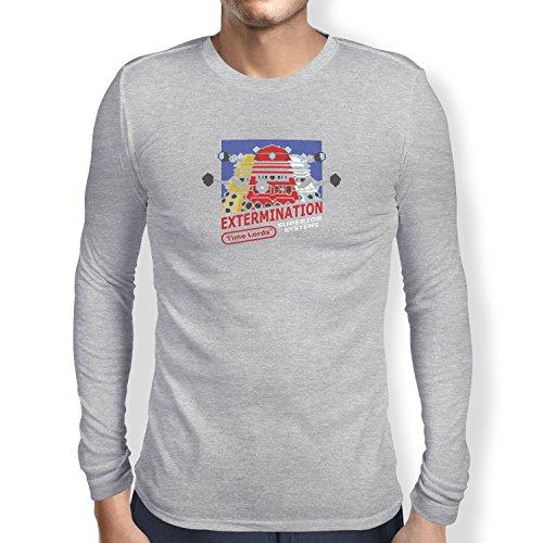 TEXLAB - Extermination 8 Bit System - Herren Langarm T-Shirt, Größe XL, grau ()