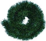 Handel24NET Excellente 5m Ghirlanda di Decorazione Artificiale in Verde Abete - utilizzata in Modo Flessibile all'Interno e all'Esterno - Questa Ghirlanda di Abete delizia Tutta la Famiglia