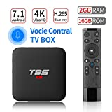 PULIER T95 S1 Voice Control Android 7.1 TV Box 2GB RAM 16GB ROM S905W Quad Core Support 1080P 4K ultra-HD H.265 Blu-ray HDMI Smart TV Media Player 2018 Newest