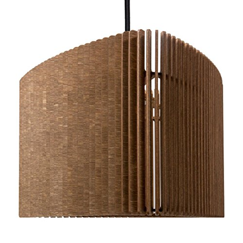 farbflut Design Suspension Trian Gulo - Suspension en Bois - Suspension contemporaine - 2 Tailles/5 Couleurs de, Cognac, 30 x 28 cm, Höhe 20 cm