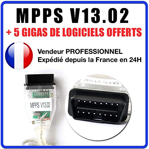 MISTER DIAGNOSTIC Valise Interface MPPS V13.02 OBD OBD2 Scanner Flash Tuning + Logiciel MPPS V16