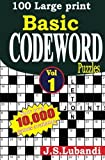 100 Large print Basic Codeword puzzles (Volume 1) by J S Lubandi (2014-03-24)