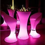 ZHIYUAN Kreative outdoor-Food Stände leuchtende Hochzeit Aktivitäten Lichter, personalisierte Mode Nachtmarkt bar wasserdichte LED Farbe Tische und Stühle Suite size:Desk600*600*1000*Chair*700*740(mm)