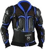 Kinder Motocross Rüstung Rücken Motorrad Schutz Jacke - Blau, XL