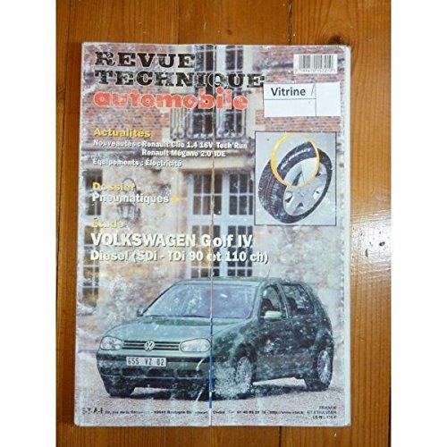 Revue Technique VOLKSWAGEN VW GOLF IV Diesel SDi, TDi 90 et 110cv RTA0622 - Novembre 1999