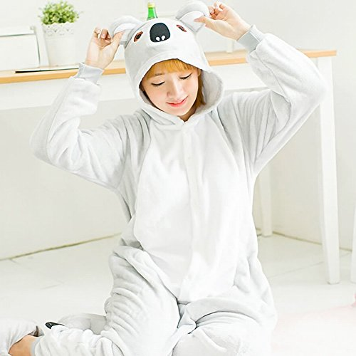CWJ Unisex Adult Pyjamas - Plüsch One Piece Cosplay Tier Kostüm Winter Verdickung (Koala Bär Hund Kostüm)