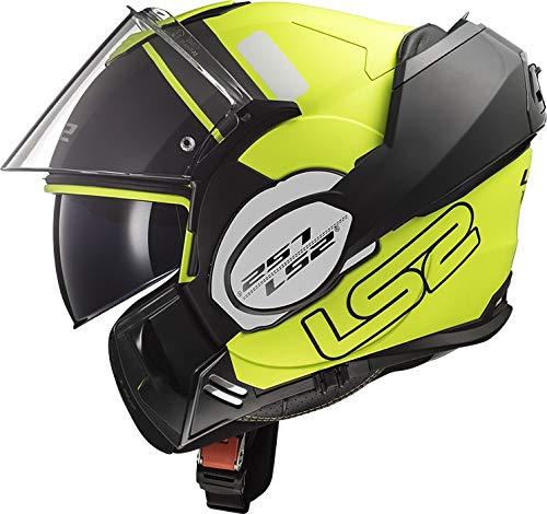 LS2 Casco Moto FF399 Valiant Prox Matt H-V Giallo Nero, Nero/Giallo, S