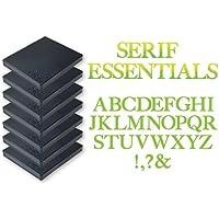Sizzix Bigz Alfabeto, Set di 7 Fustelle,  Serif Essentials by E.L. Smith, Acciaio Inossidabile