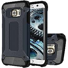 Galaxy S6 Edge+ Funda, HICASER Híbrida Case [Heavy Duty] Rugged Armor Cover, Dual Layer Shock Resistant Carcasa para Samsung Galaxy S6 Edge Plus Dark Azul