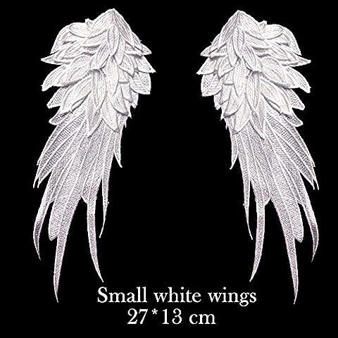 1 Coppia Piccolo bianchi di Applique Patch fai da te Abbigliamento Decor 27 cm * 13 cm