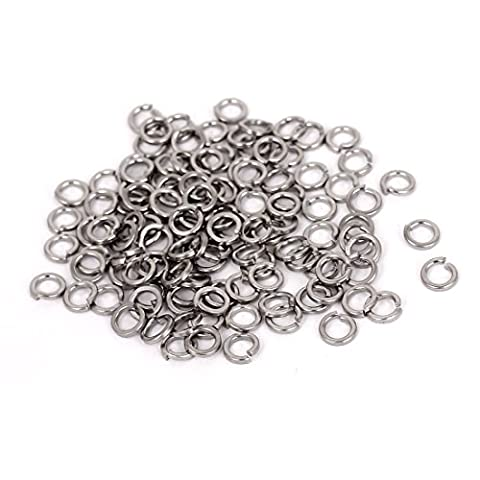 sourcingmap® M3 304 Stainless Steel Split Lock Spring Washers Screw Gasket 100pcs