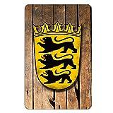 Cadora Magnetschild Kühlschrankmagnet Wappen Baden-Württemberg shabby chic abgenutzt alt used look