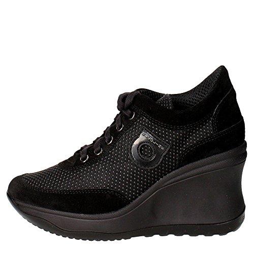 Agile By Rucoline 1802 Sneakers Donna Camoscio Nero Nero 38