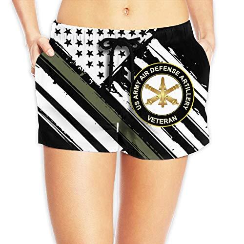 Jungen Surfbrett Swim Trunk (vbndfghjd US Army Veteran Air Defense Artillery Women's Swim Trunks Quick Dry Beach Board Shorts Funny Novelty XXL)