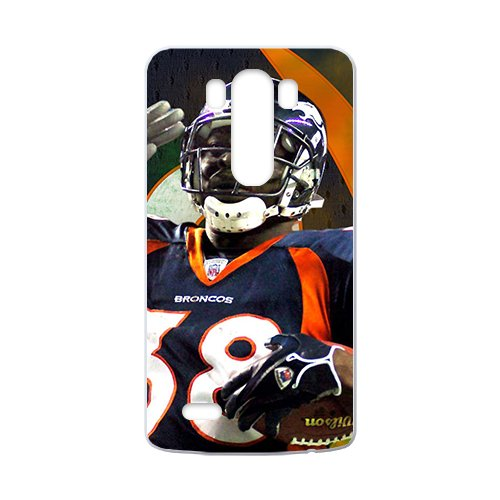 Custom LG G3 NFL Sports Logos Case Denver Broncos of the National Football League Tim Tebow Design Protective Bumper Cover -