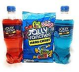 Jolly Rancher Bundle - Blue Raspberry Soda (591ml) Cherry Soda (591ml) Jolly Rancher Hard Candy Original (198g)