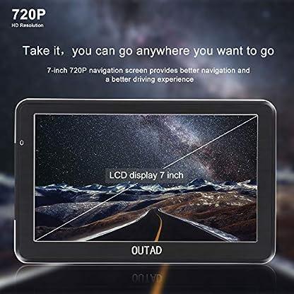 OUTAD-7-Zoll-GPS-Navi-Navigation-fr-Auto-LKW-PKW8GB-Speicher-Lebenslang-Kostenloses-Kartenupdate-Windows-CE-System-Kapazitiver-Touchscreen