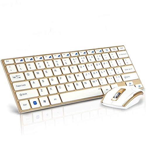ER-JI 2.4G Wireless Keyboard Mouse Set Aluminiumlegierung Slim wasserdichte Desktop-Notebook-Tastatur