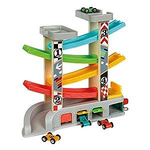 WOOMAX - Circuito pista con garaje y coches (ColorBaby 46257)