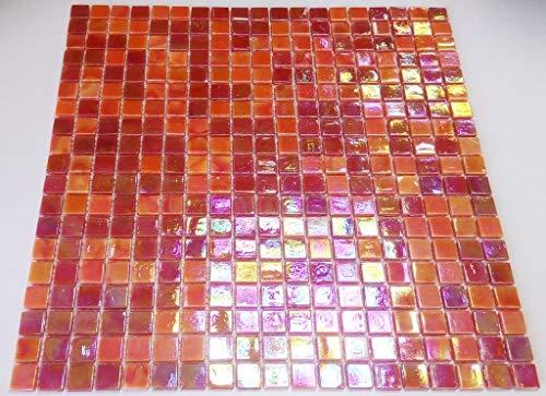 Mosaico red mosaico azulejos cuadrado mix Rojo Cristal