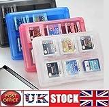 24 DS Game Case Holder for Nintendo 3DS DSi XL Lite DS MarkUK® (White)