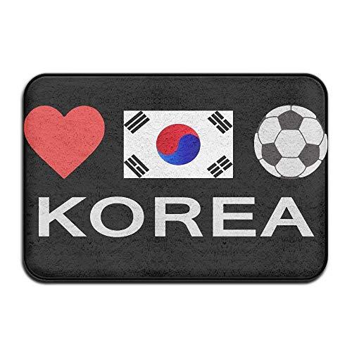 Uosliks Korea Football Korea Soccer Non-Slip Indoor/Outdoor Door Mat Rug for Health and Wellness Offices Bathroom Fußabtreter 23.6